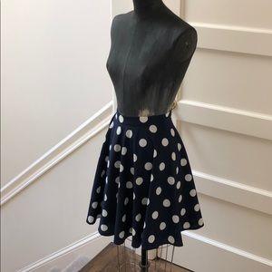 High waist Polk dot circle skirt